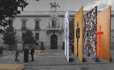 Cuatro paneles «traspasables» formarán la Cruz ganadora del concurso del Ayuntamiento de Granada
