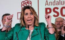 Susana Díaz: «Si Casado cree que Vox es de extrema derecha mucho está tardando para romper con ellos en Andalucía»
