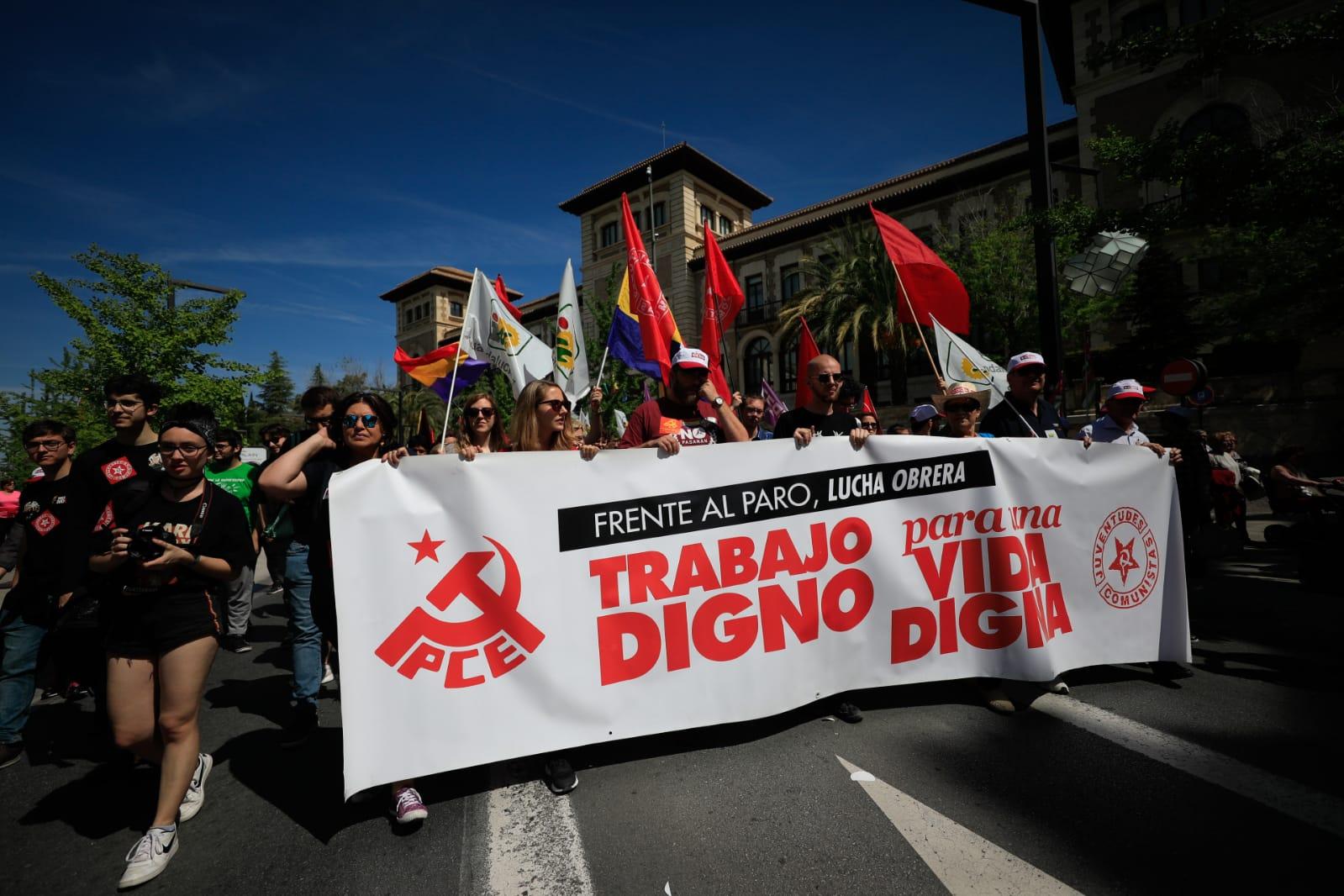 Así ha sido la manifestación en Granada por el 1 de mayo