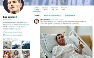 Casillas pasa su primera noche en el hospital estable y rodeado de su familia