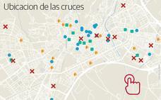 ¿Dónde está ubicada cada cruz en la capital?