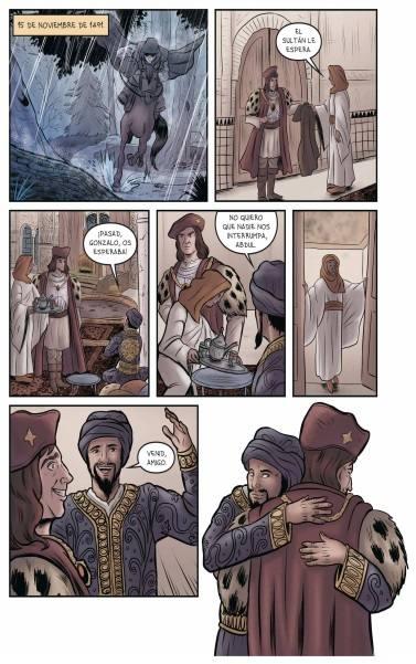 Páginas del cómic '1492: La toma de Granada'