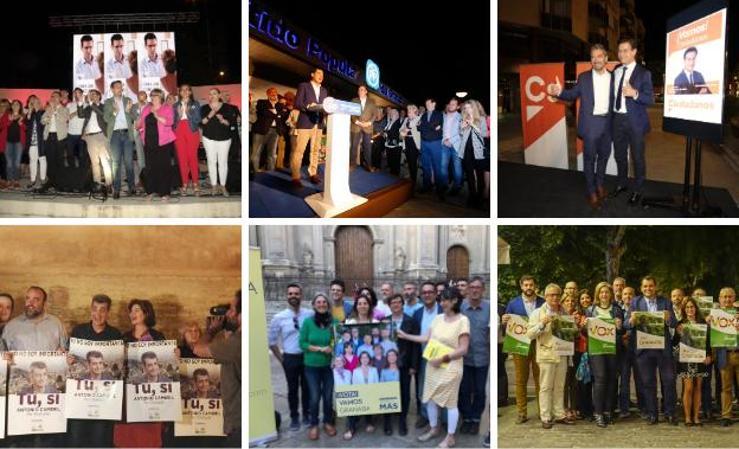 Noche de actos y pegada de carteles en Granada