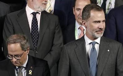 Torra evita el besamanos del Rey en la inauguración del salón del automóvil de Barcelona
