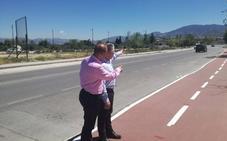 Diputación termina las obras de la travesía de Otura, que incluye un carril bici y otro peatonal