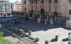 Comienza la instalación en Jaén de la pista del World Padel Tour