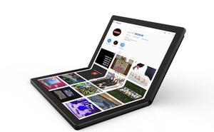 Lenovo lanza el primer ordenador del mundo con pantalla plegable