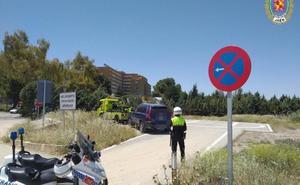 La Policía Local de Jaén multa a un hombre por aparcar en el helipuerto del hospital