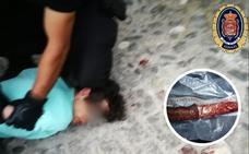 Así fue la detención del agresor que apuñaló a una mujer en el centro de Granada