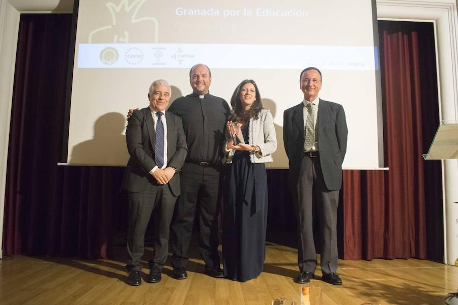 Entrega de la sexta edición de los premios Granada por la Educación