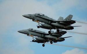 F-18 españoles en misión de Policía Aérea del Báltico