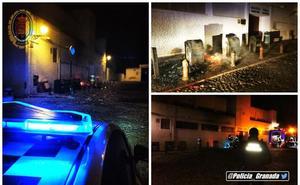 Colchones en llamas junto al cementerio de San Nicolás