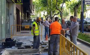 El Ayuntamiento continúa con las reparaciones en el centro de la ciudad