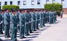 Las imágenes de la celebración del aniversario de la Guardia Civil en Granada