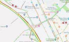 Un nuevo problema en los semáforos de Méndez Núñez colapsa la A-44 en Granada