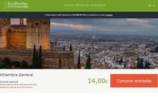 Los responsables de la web de venta de entradas de la Alhambra dicen que han sido víctimas de un ciberataque