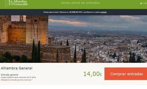 La Alhambra presenta una denuncia para que se investigue si hubo un ataque a su web de venta de entradas