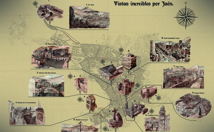 Jaén visto a través de ocho mapas de la Escuela de Arte José Nogué