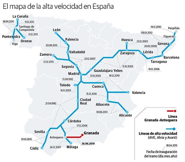 Mapa Ave España 2019.El Precio Del Billete De Ave Esta En La Media Del Resto De