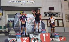 Estefanía Gámez, segunda clasificada en la dura carrera Gigante de Piedra