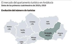 El mercado de los apartamentos turísticos crece en Granada diez veces más rápido que en el resto de Andalucía