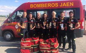 Los bomberos de Jaén destacan en el campeonato nacional de rescate