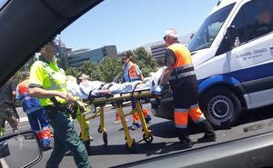 Dos accidentes se saldan con dos personas heridas y colapsan la Circunvalación de Granada