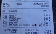 10 euros «por tocar los cojones»: la broma de un bar a unos clientes se hace viral