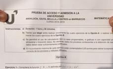 Alumnos andaluces recogen firmas para impugnar el examen de Matemáticas de Selectividad: «Es mucho más difícil que el de Valencia»