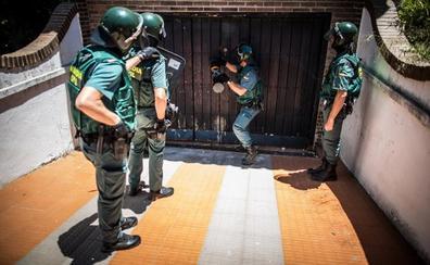 Golpe al narcotráfico en chalés de lujo de Gójar con 2.000 plantas de marihuana incautadas y armas