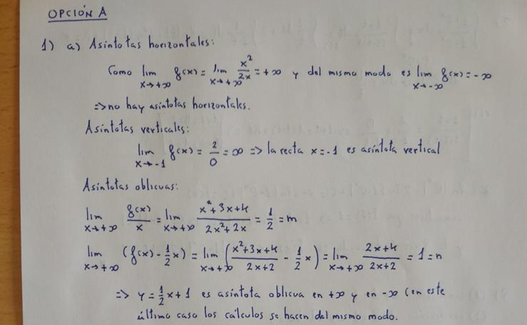 El examen de Matemáticas de Selectividad en Andalucía corregido por un profesor de Granada