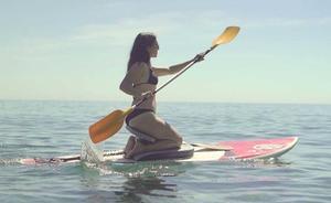 Un almeriense patenta un nuevo concepto de asiento para paddle surf