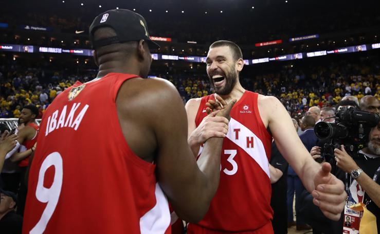 La histórica victoria de los Raptors, en imágenes