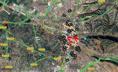 Una colisión por alcance colapsa la Circunvalación de Granada