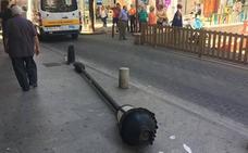 Herida una mujer al caerle encima una farola en Los Jardinillos