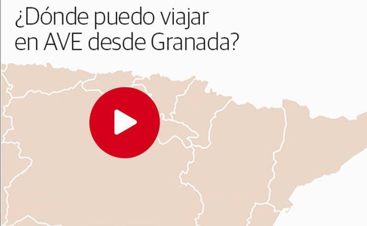¿Dónde puedo viajar en AVE desde Granada?