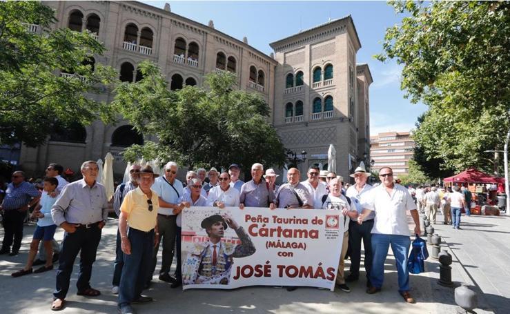 El ambiente en la Monumental de Frascuelo con la vuelta de José Tomás a Granada