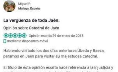 La queja sobre la Catedral de Jaén que se ha hecho viral