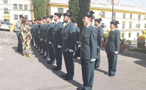38 guardias civiles en prácticas en la provincia de Jaén