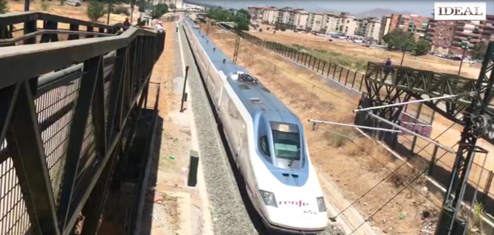 El vídeo de la llegada del primer AVE a Granada