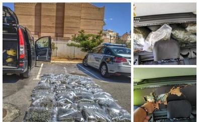 'Cazan' a un narco en la A-92 en Huétor Santillán con 36 kilos de marihuana en la furgoneta
