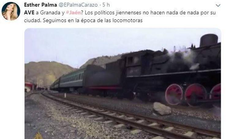 Las redes sociales se indignan con la «maniobra esquiva» del AVE a Jaén