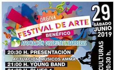 Órgiva celebra la Noche Abierta y un Festival de Arte a beneficio de la Asociación 'Disfruta sin Barreras'