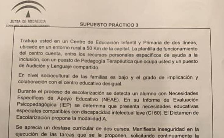 Así han sido los exámenes de las oposiciones a maestro del pasado domingo, que tuvo un «fallo técnico», y el de este viernes