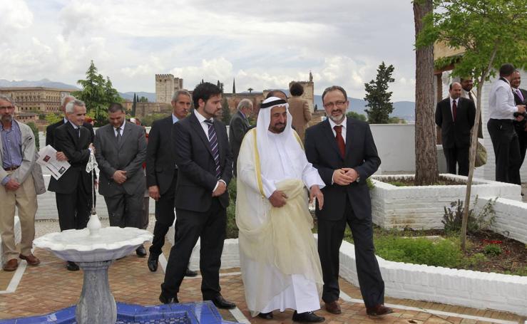 La visita a Granada del emir de Sharjah, padre del jeque fallecido en extrañas circunstancias en Londres