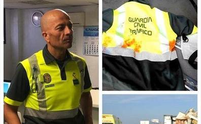 Un guardia civil salva la vida de un camionero haciéndole un torniquete con su uniforme