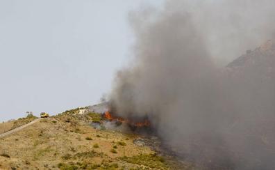 Extinguido el incendio forestal declarado en un paraje de Órgiva