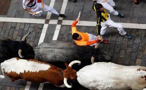 Los toros de José Escolar regalan un encierro de preciosas carreras
