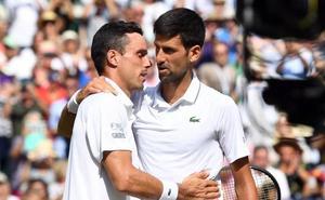 Bautista sucumbe ante un pletórico Djokovic