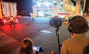 Ruedan en el Puerto de Almería escenas de la película holandesa 'King of the road'